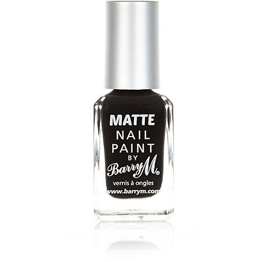 Barry M Matt Nail Paint Black Espresso £3.99 - Superdrug